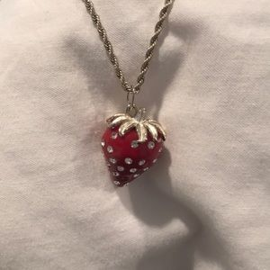 Jewelry - Super cute strawberry necklace.